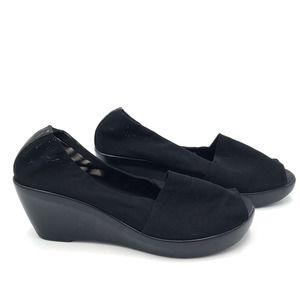 Athena Alexander Classics Mesh Wedge Heels Black